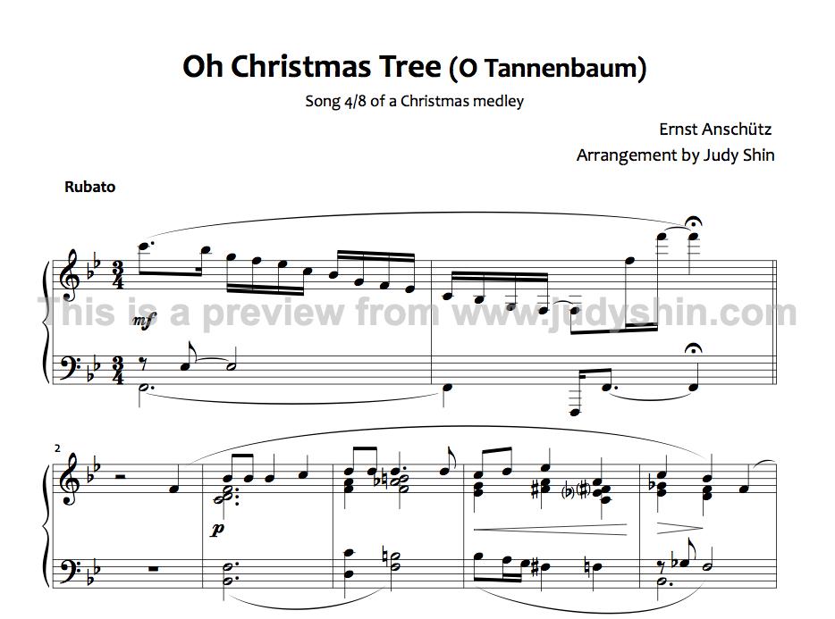 O Tannenbaum Piano.Classical Music Notes Digital Download O Christmas Tree Voice Piano