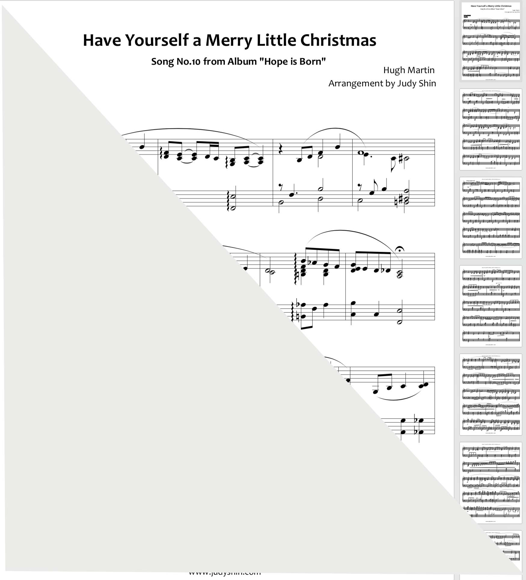Have Yourself A Merry Little Christmas Piano.Have Yourself A Merry Little Christmas